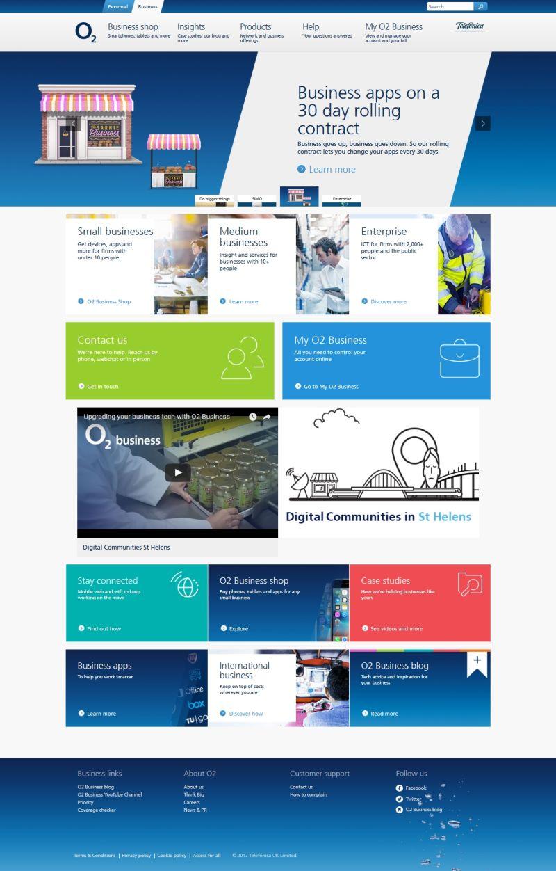 O2 Business online portal