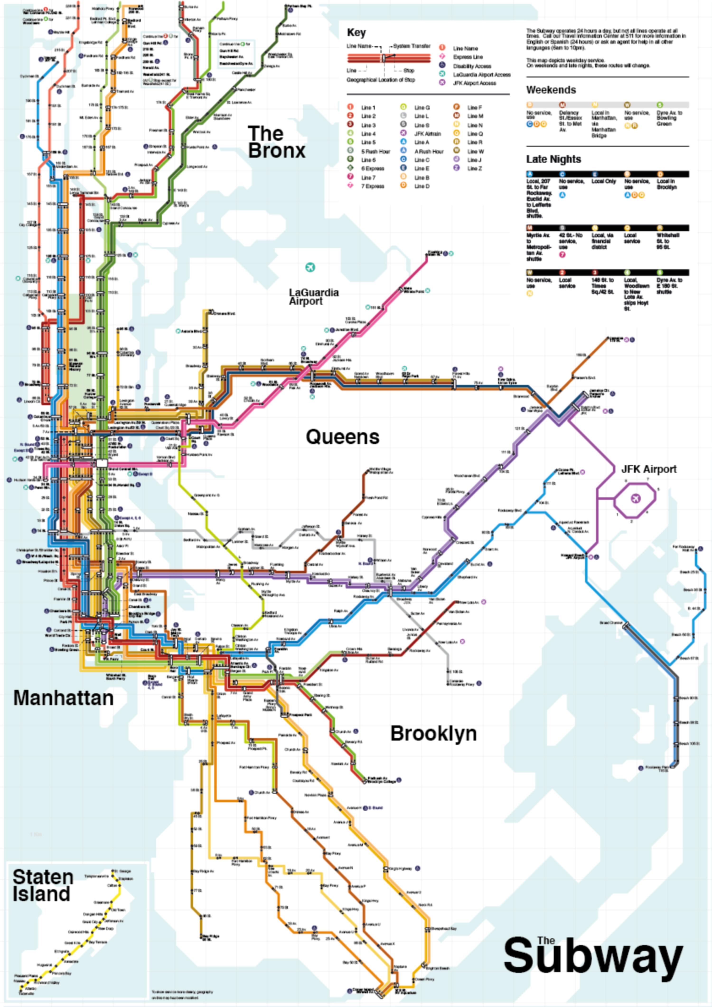 Subway Map Creator New York.Lines New York Subway The Dots