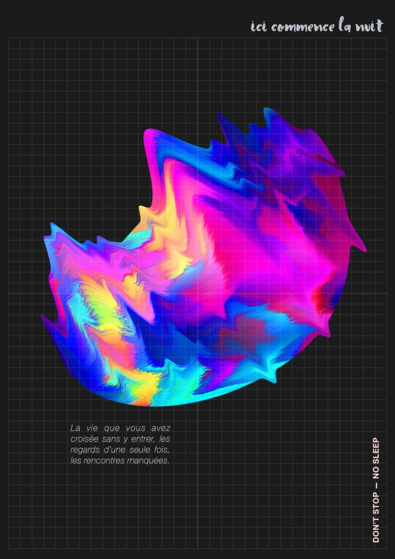 Ici commence la nuit — Graphic Design