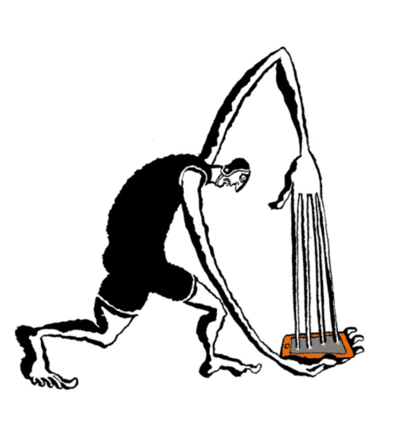 Internet addiction (animated illustration)