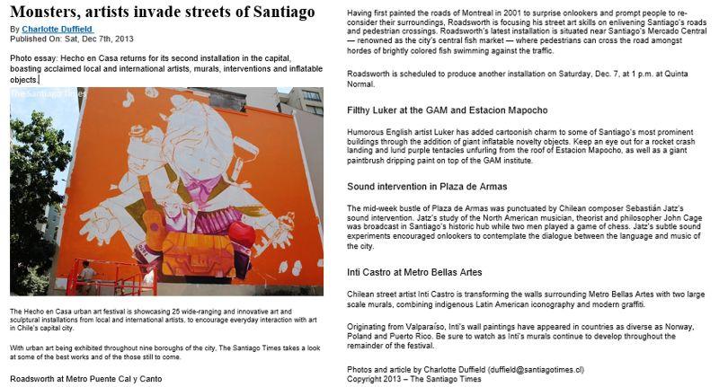 The Santiago Times - Articles