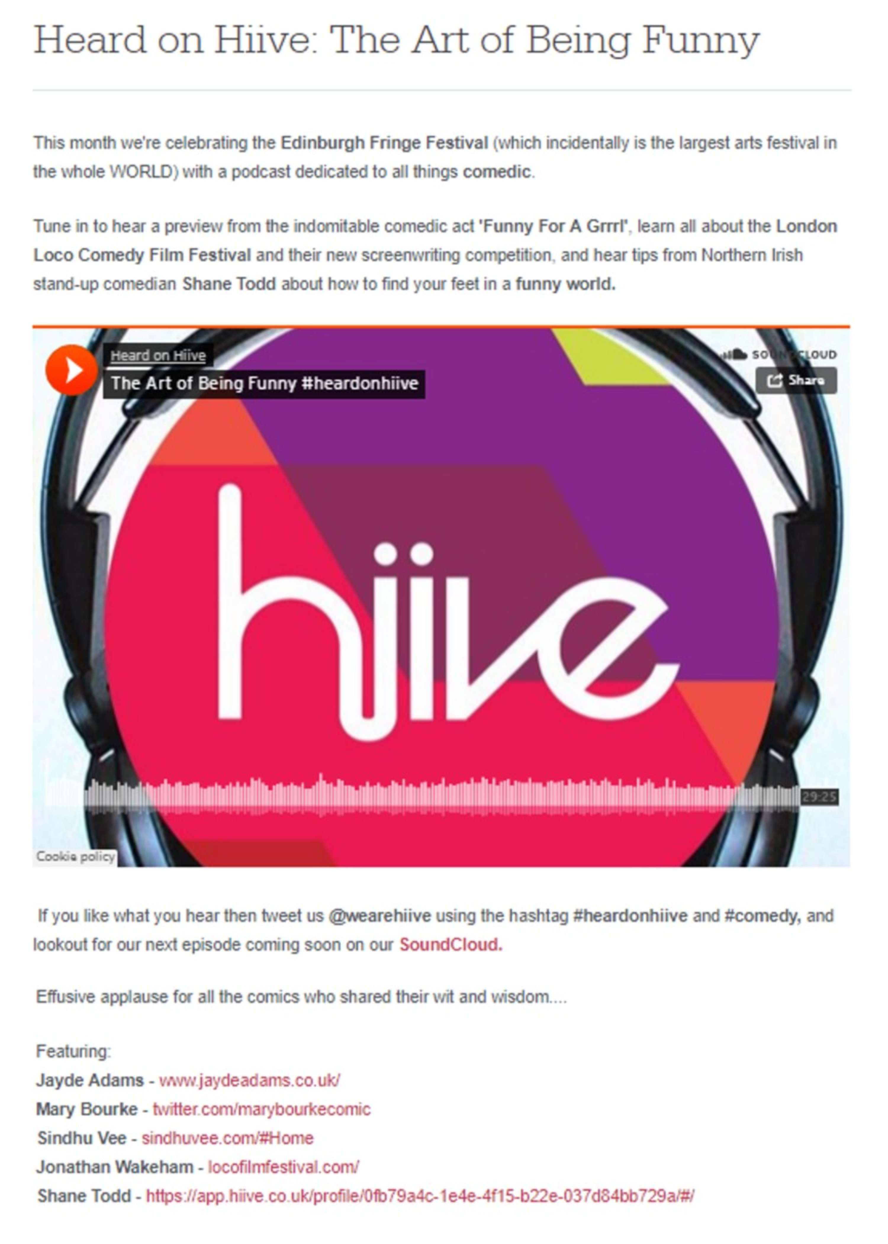 Heard on Hiive - Podcasts | The Dots