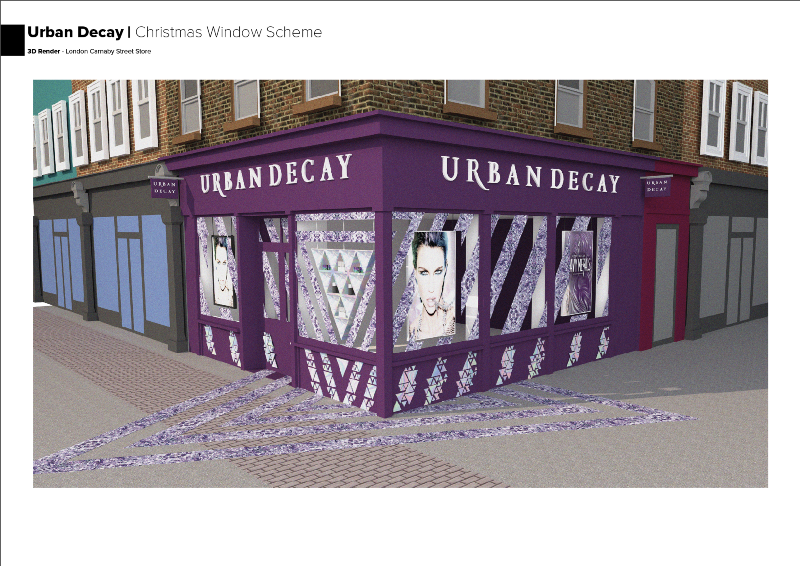 Urban Decay - Christmas Window Scheme