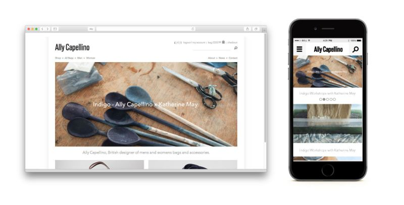 Ally Capellino Website and Print