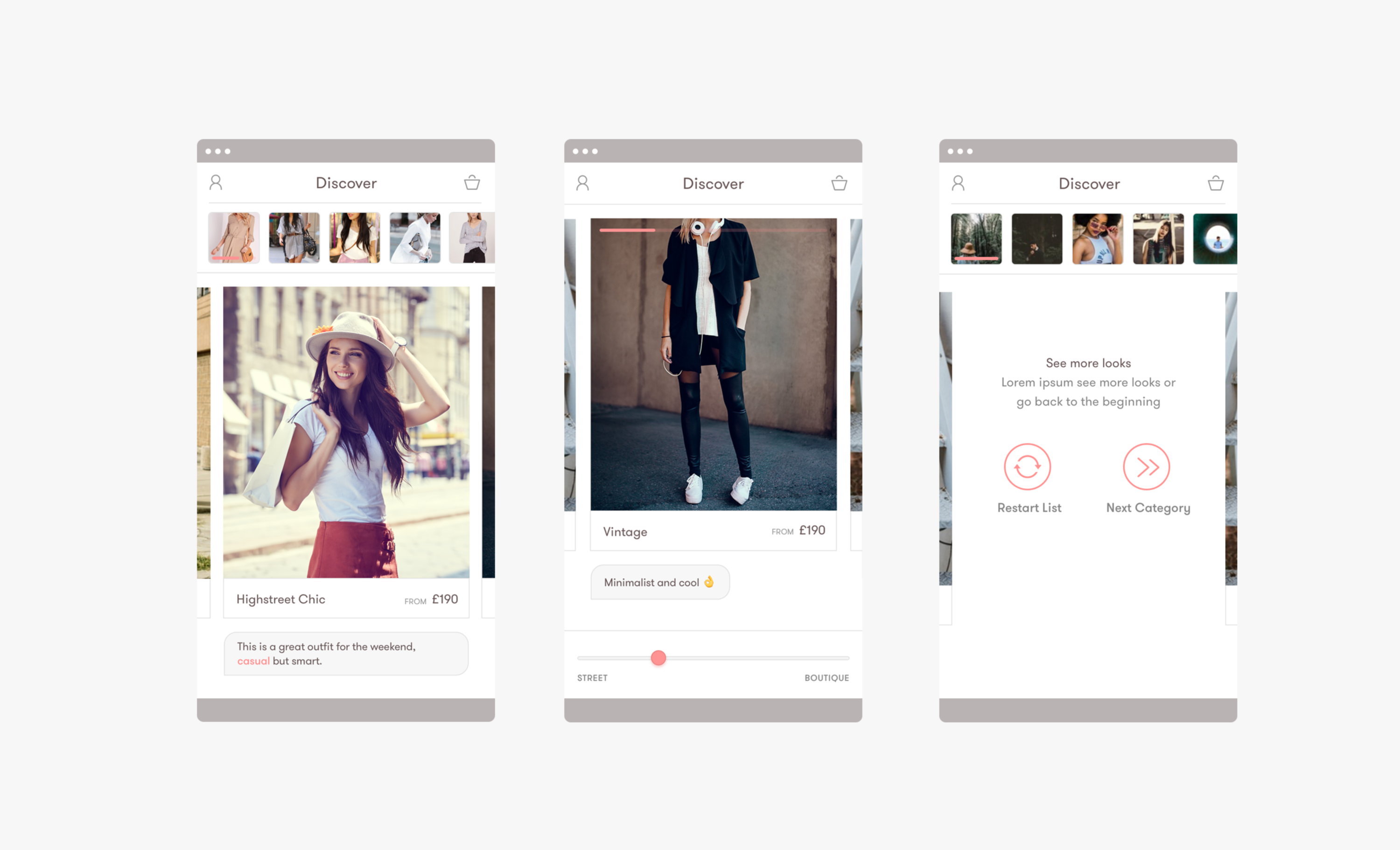 App To Design Clothes | Design Direction For A Fashion Discovery App The Dots