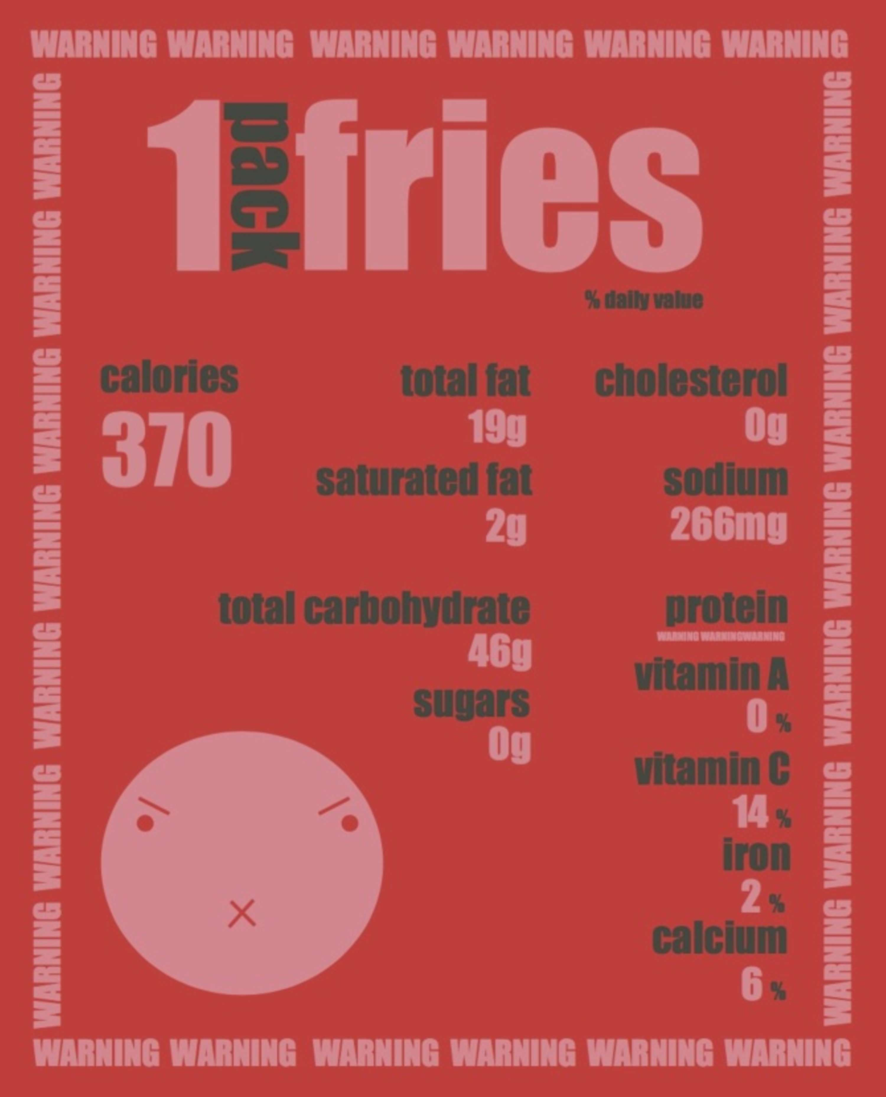 rsa project nutrition label design the dots