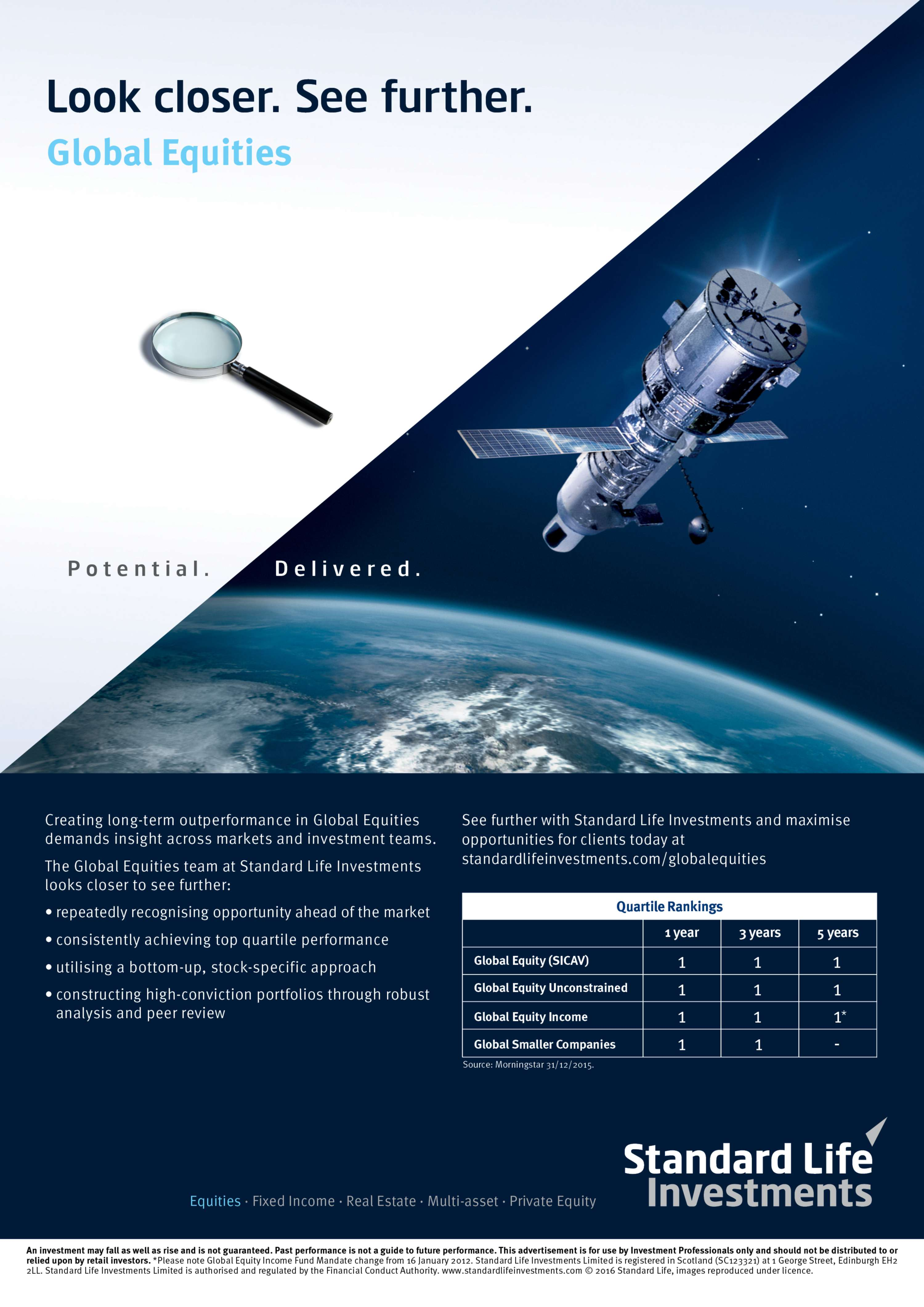 Standard life investments global ii -  Standard Life Investments Does Every Day Recognise The Real Potential In The Wide Universe Of Investment Opportunities And Then Deliver On These