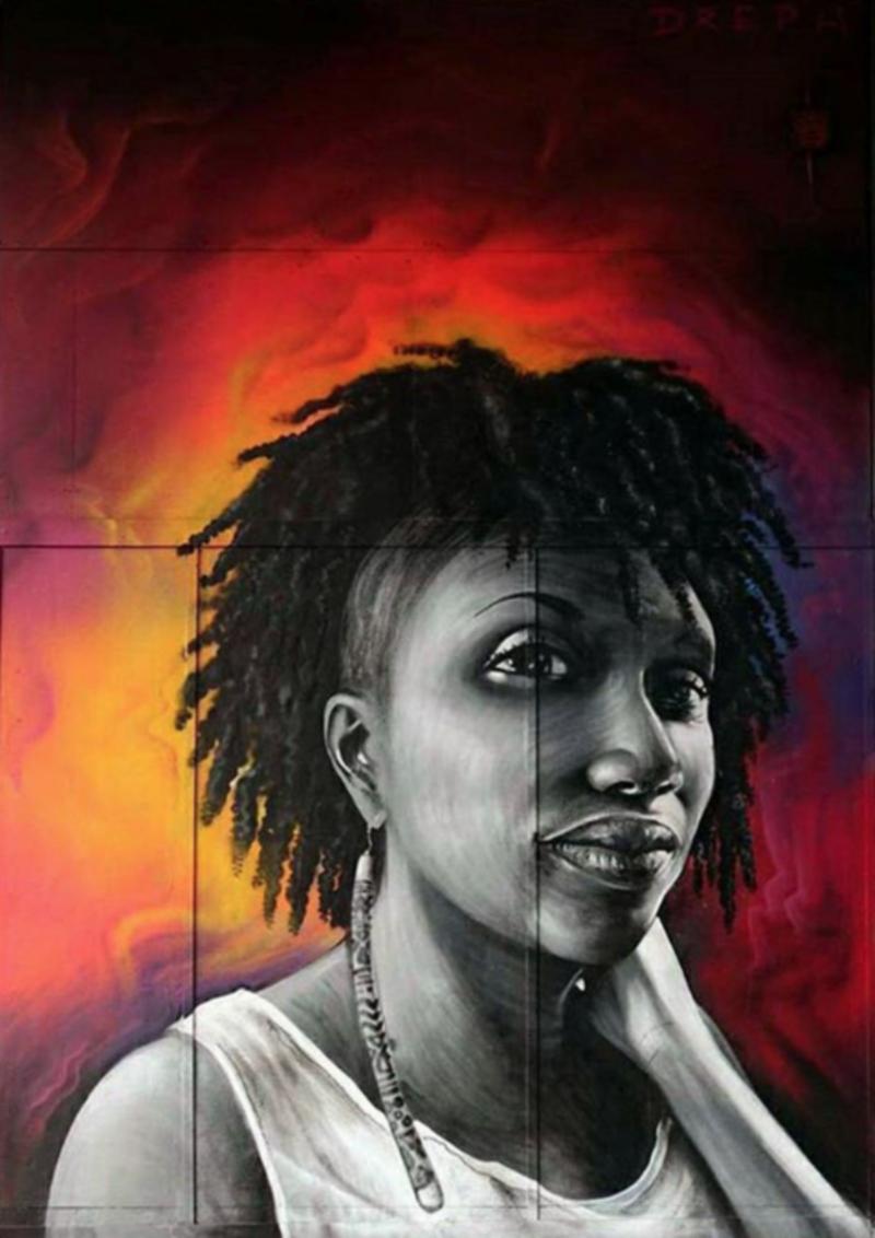 Konbini Article: This Artist Paints Giant Murals Of Inspiring Black Women Around London