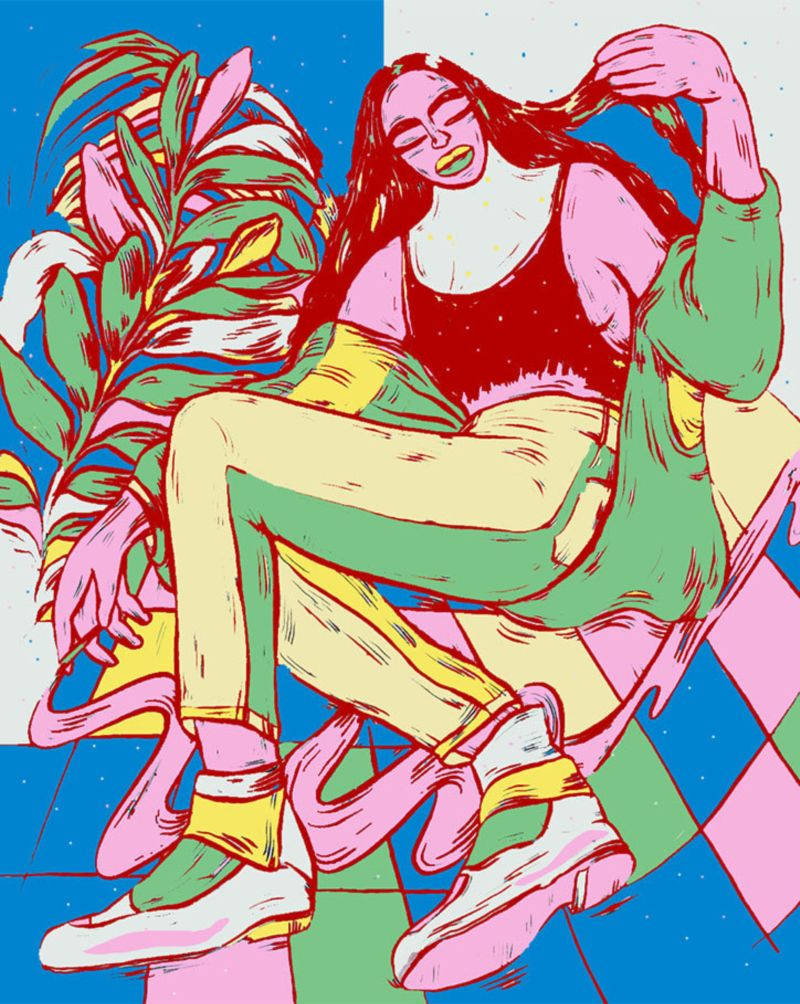 Noopur Choksi's illustrations depict a charming relationship with digital design