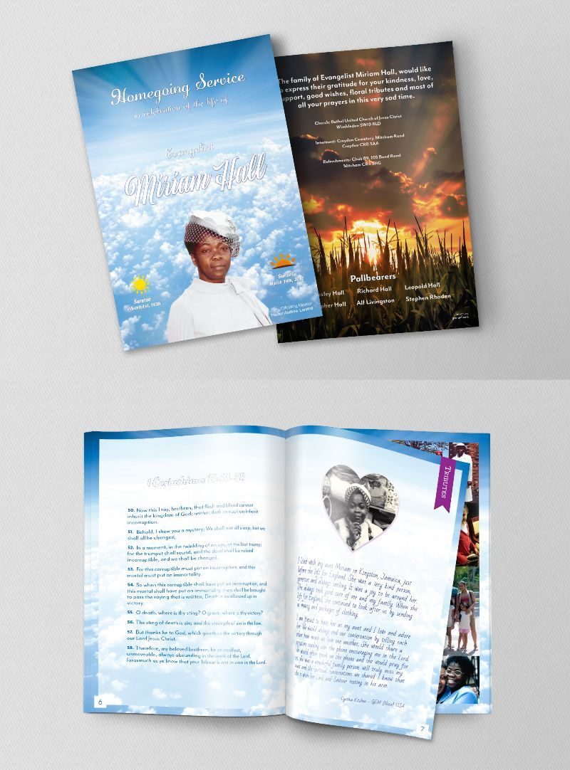 Homegoing Service booklet