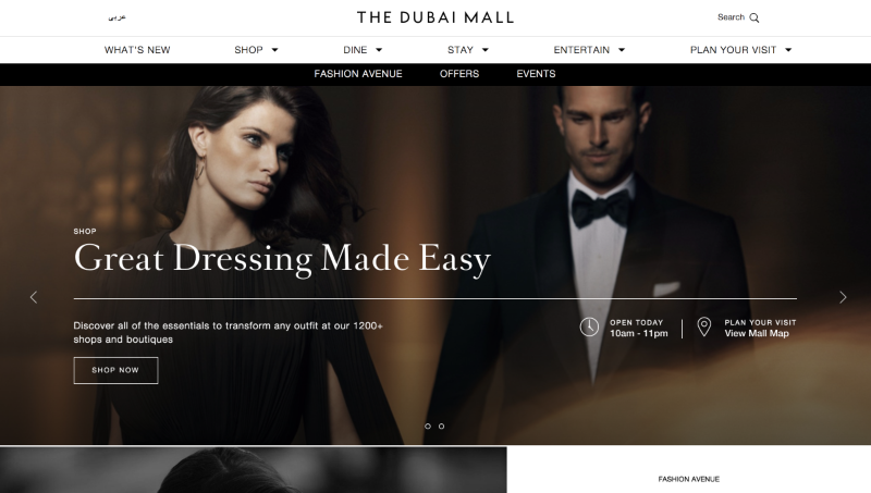 The Dubai Mall Website Design & Content Strategy