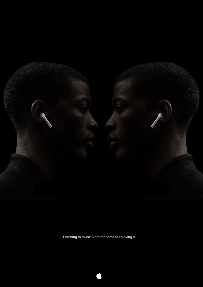 Billboard for new Airpods