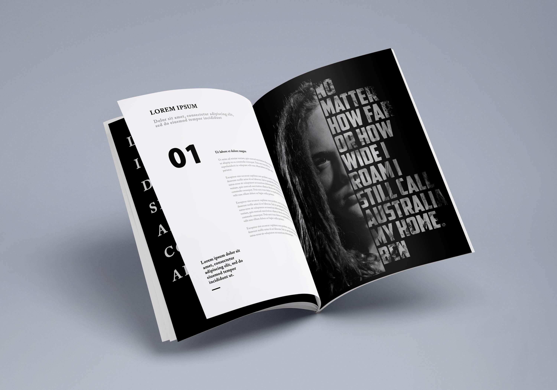 magazine spread mockup the dots