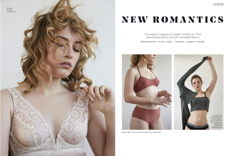 Lingerie shoot for Stylist mag, issue 387