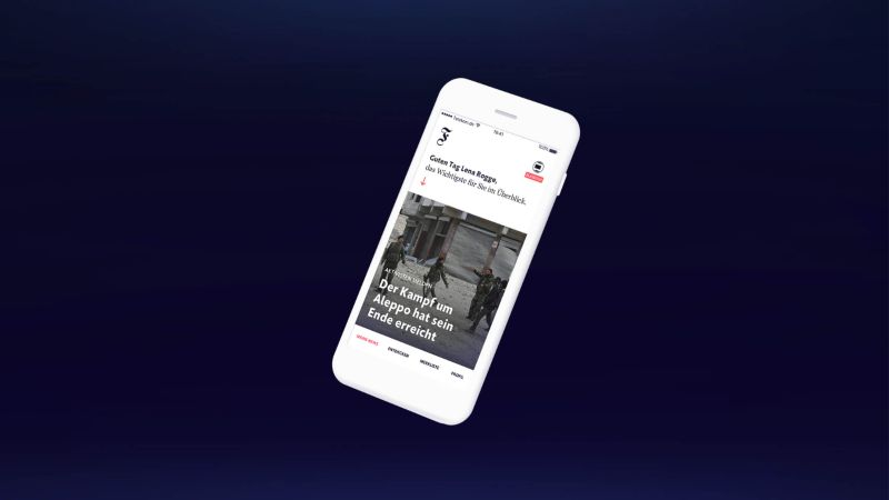 FAZ F9 – Mobile App for the future of news