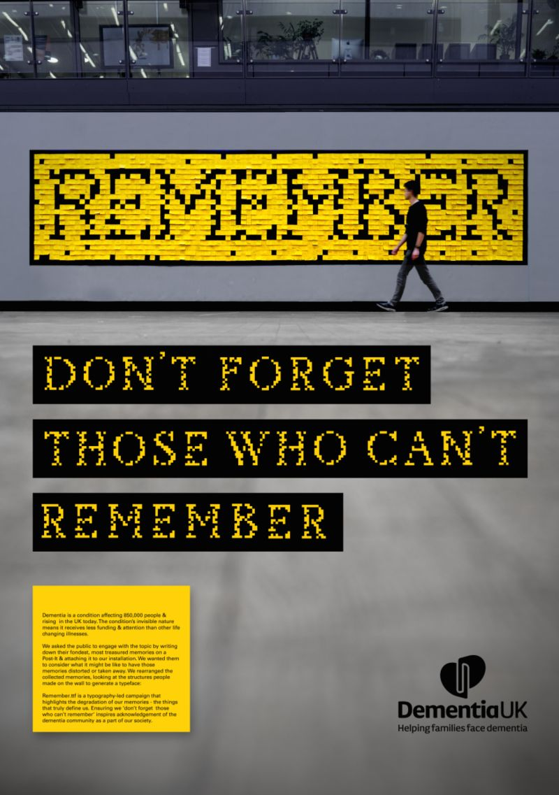Remember.ttf : D&AD Pencil Winning Entry for Monotype 2017