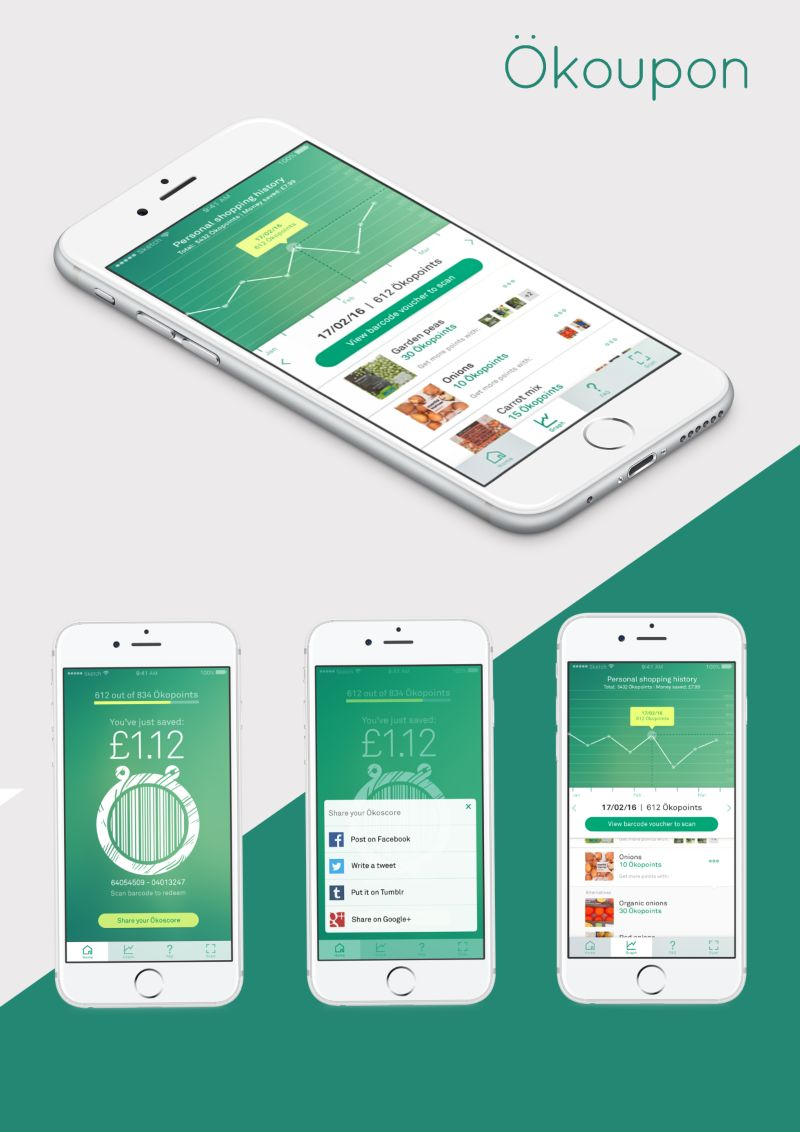 Okoupon : UX Design For An App Promoting Sustainable Consumer Behaviour