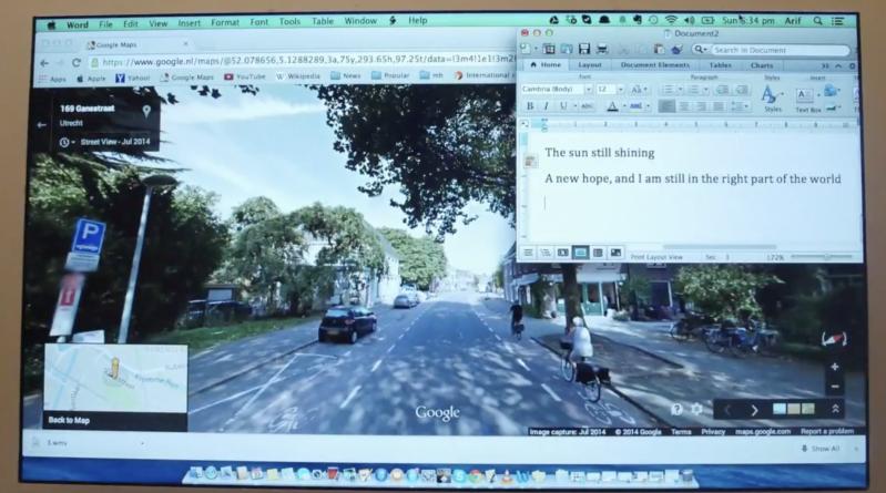 """School"" - a Google map animation"