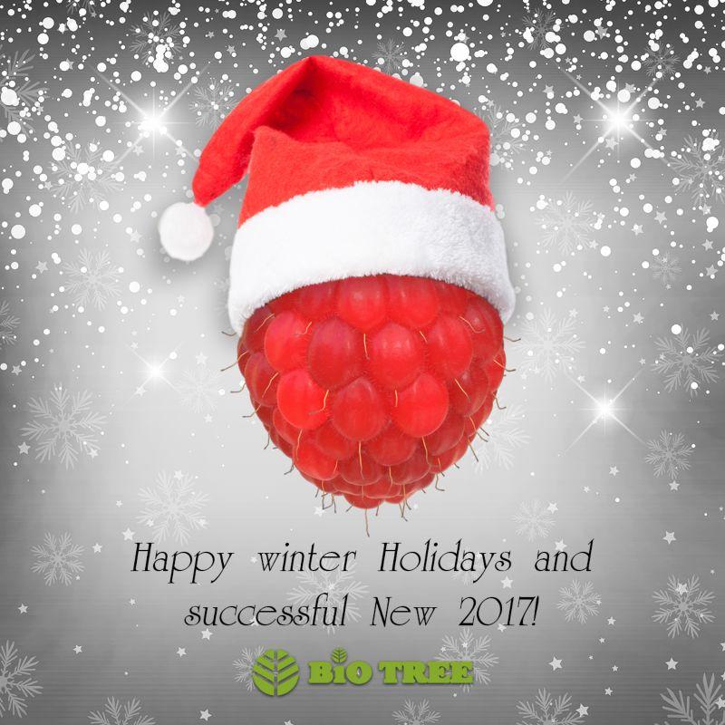 Christmas greeting card for bio laboratory