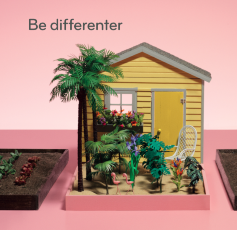 MOO Be Differenter advertising campaign
