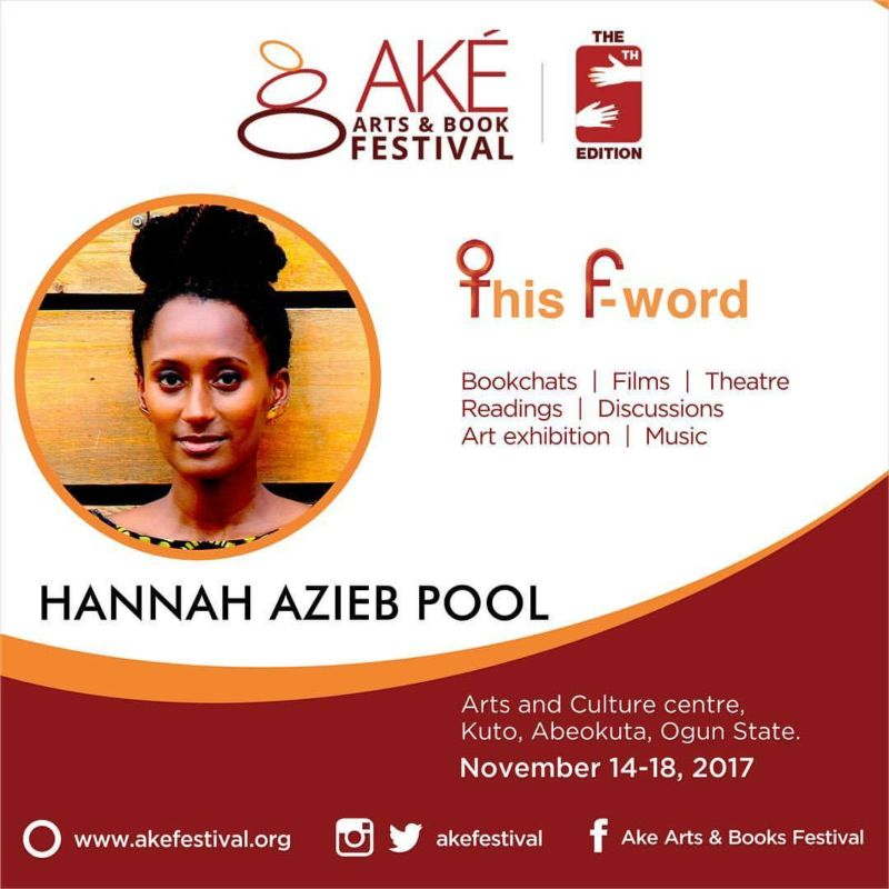 Speaker at Ake Arts and Books Festival, Nigeria 2017
