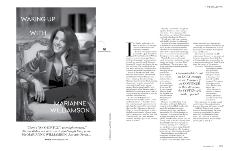 Waking Up With Marianne Williamson | Profile Feature