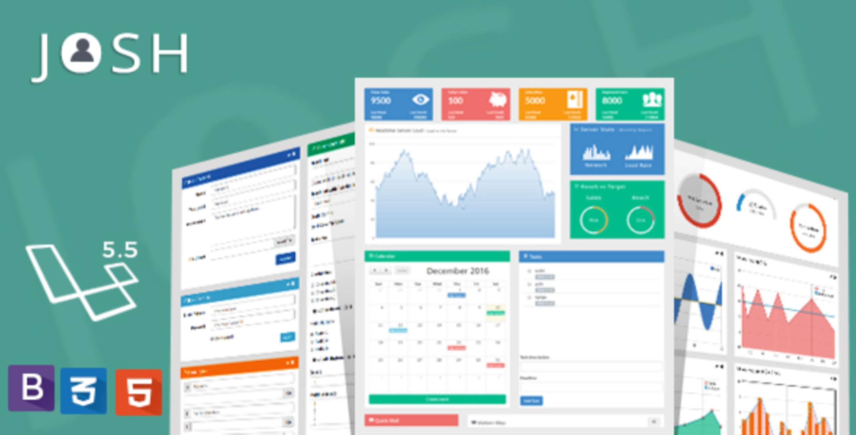 Laravel 5.5 CRUD UI Admin Template - JOSH | The Dots