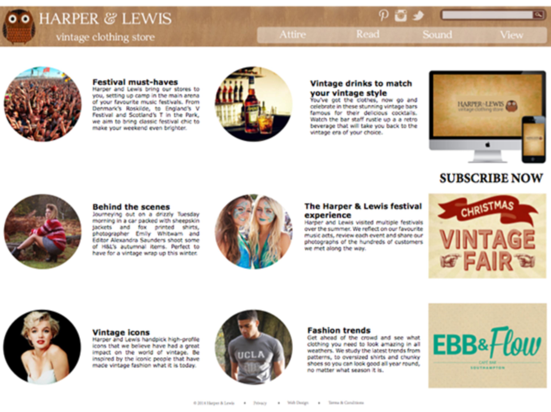 Harper Lewis Vintage App Proposal | The Dots