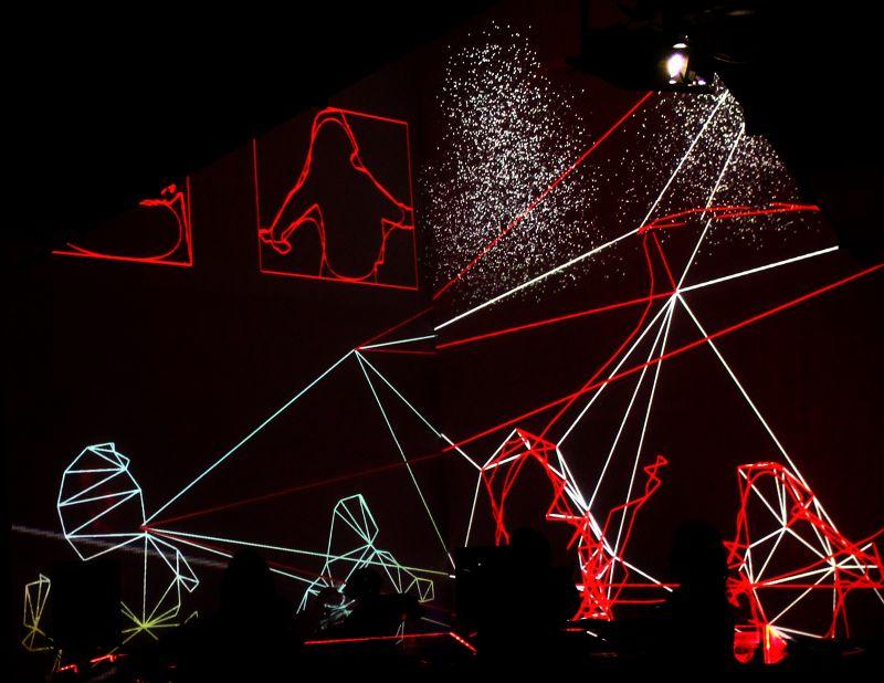 UNPAINTED - interactive audivovisual installation