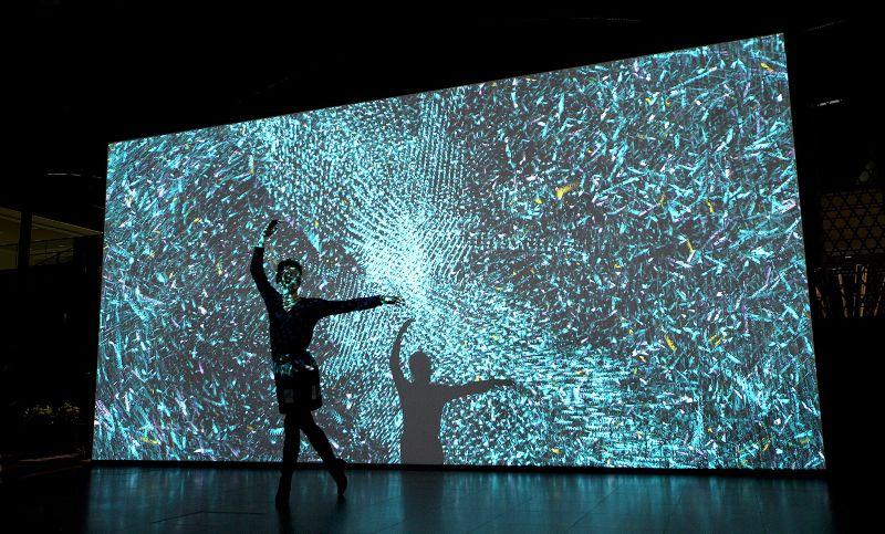 FLUX - interactive visual installation