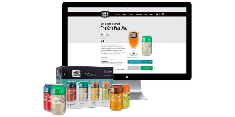 Fernie Brewing Co. - Website Design 2015