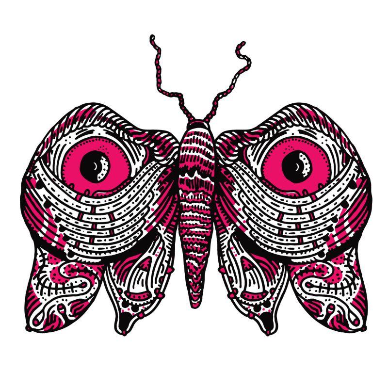 Flash Inspired Moths