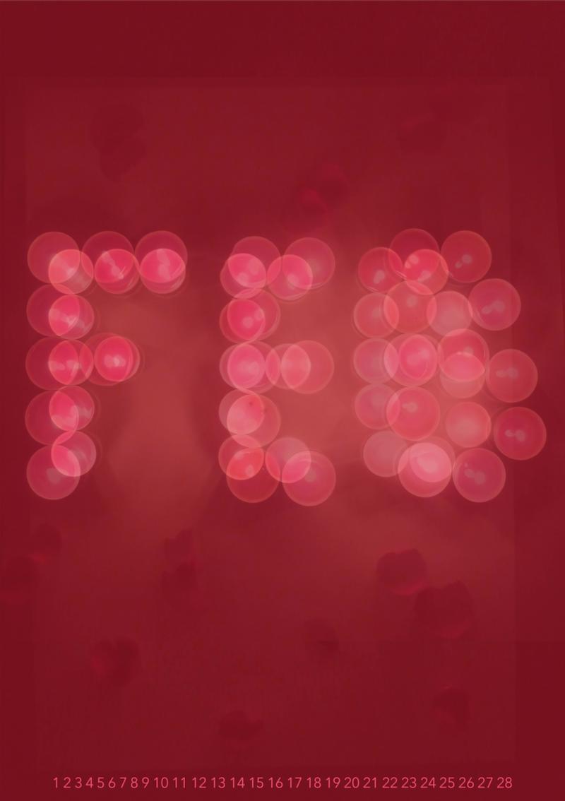 Experimental 3D Typography Calendar