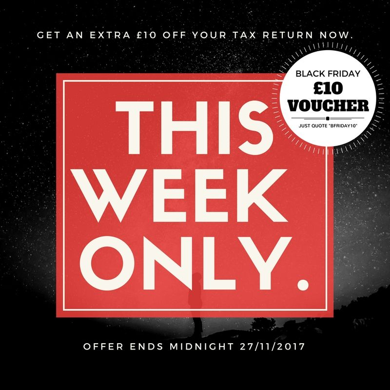 THIS WEEK ONLY. GET AN EXTRA £10 OFF OF YOUR TAX RETURN AND £20 AMAZON VOUCHER