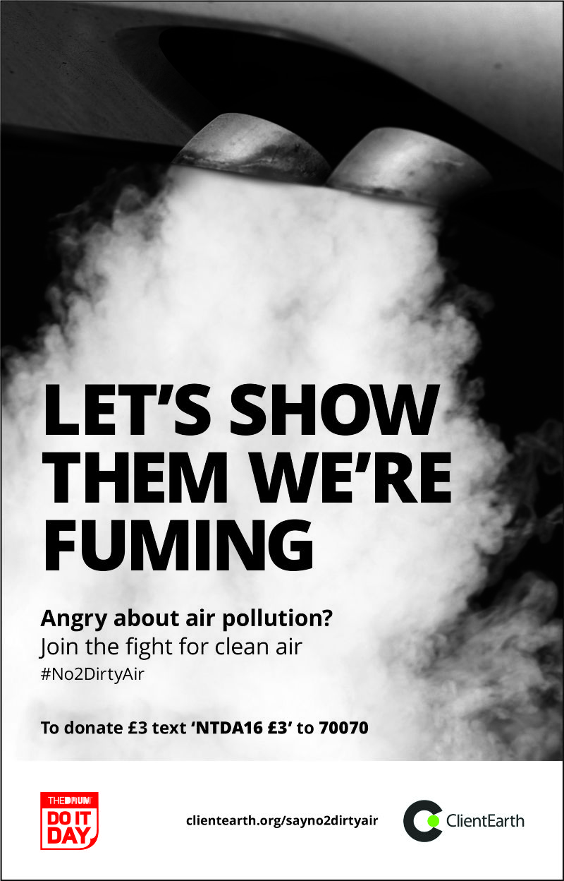 Client Earth #No2DirtyAir Ad for The Drum's #DoItDay