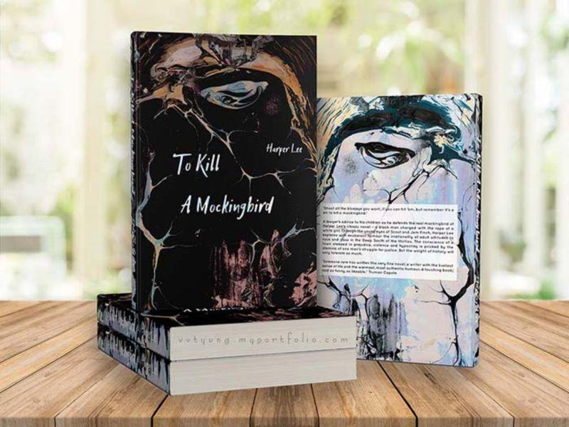 Book Cover Design - Paper Marbling