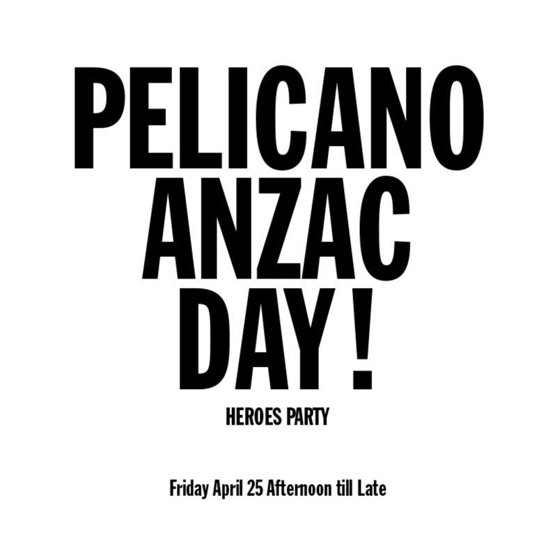 Pelicano Anzac Day