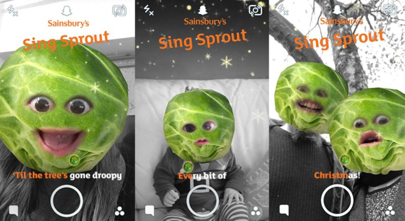 Introducing The World's First....Singing Sprout Snapchat Lens