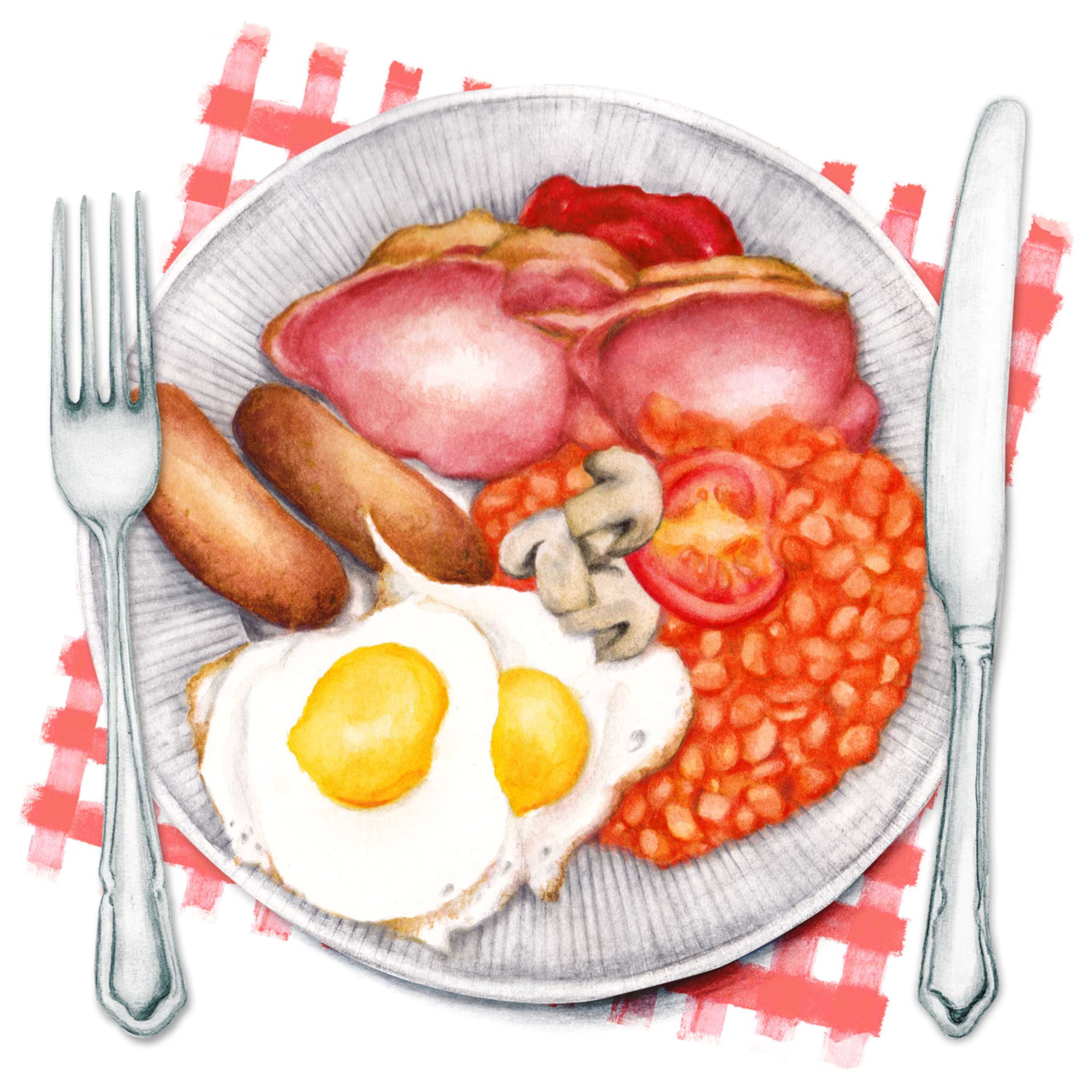 Food Illustration Fry Up The Full English The Dots