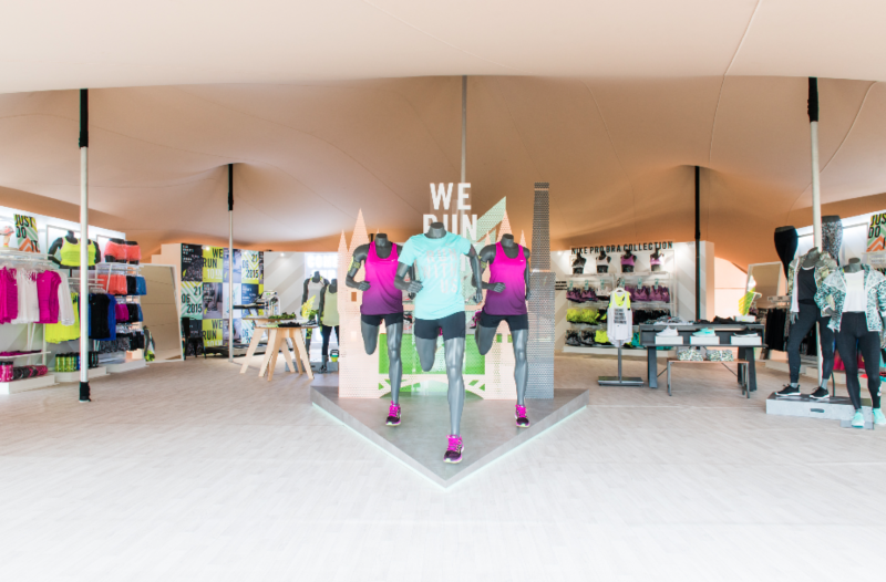 Nike Women pop up store in Victoria Park