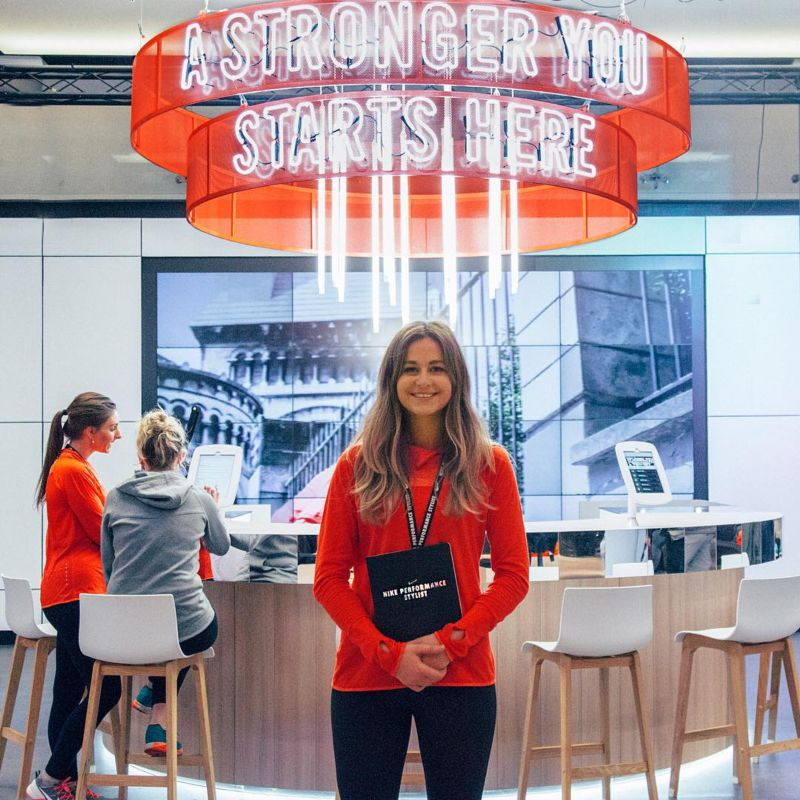 Nike women's performance styling in Niketown London