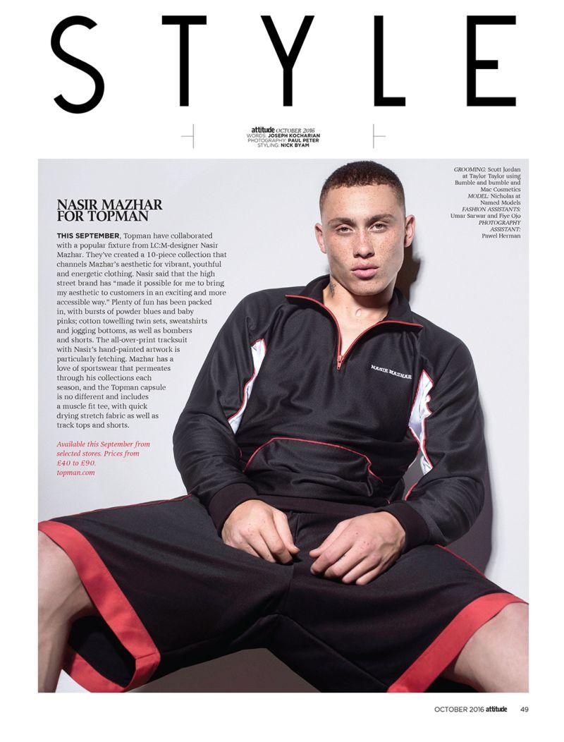 Attitude Magazine / Nasir Mashar