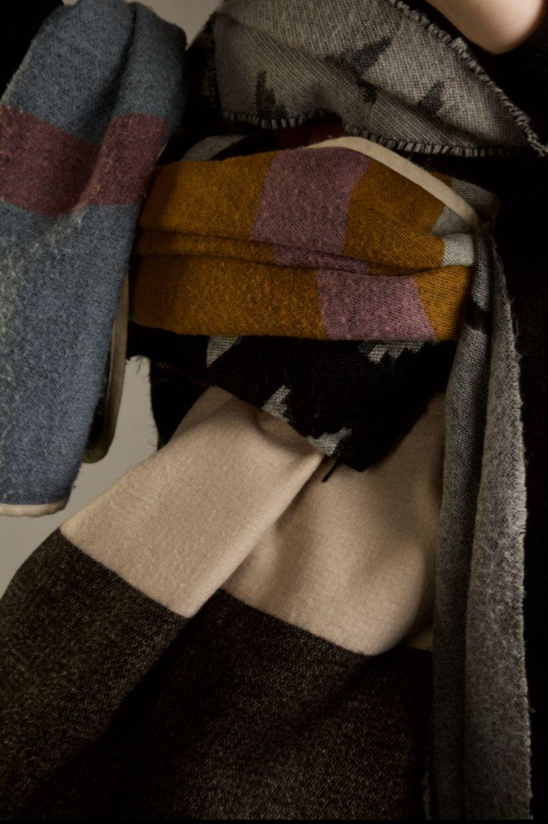 Scarves, scarves, scarves.
