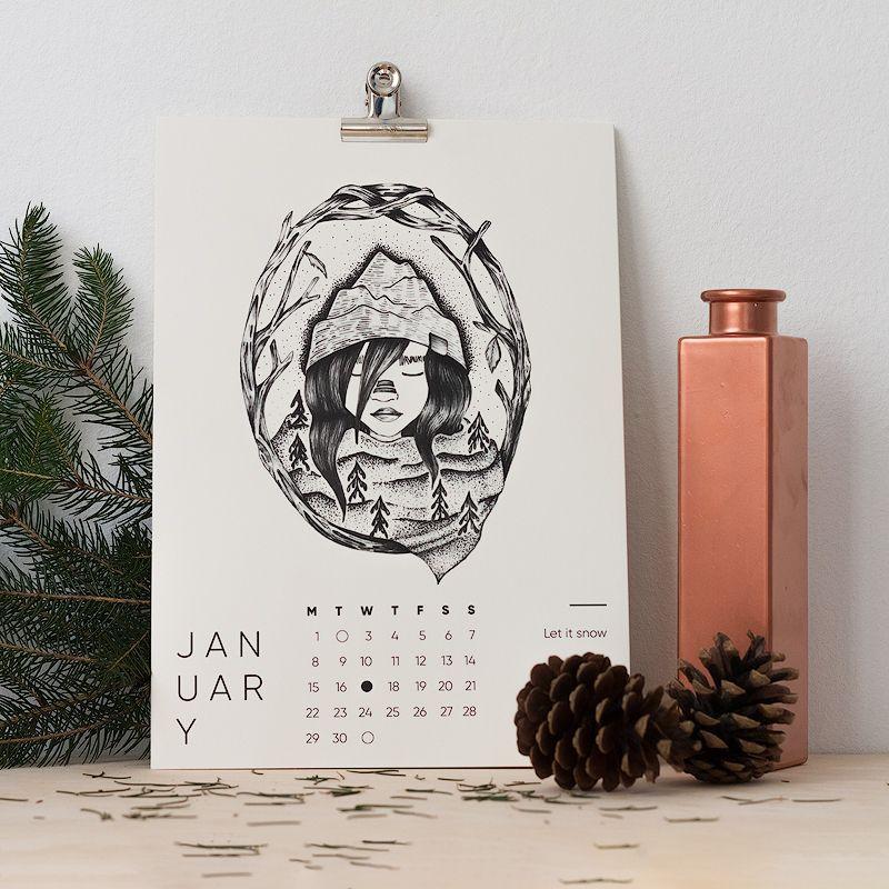 1/2 Traditional Calendar