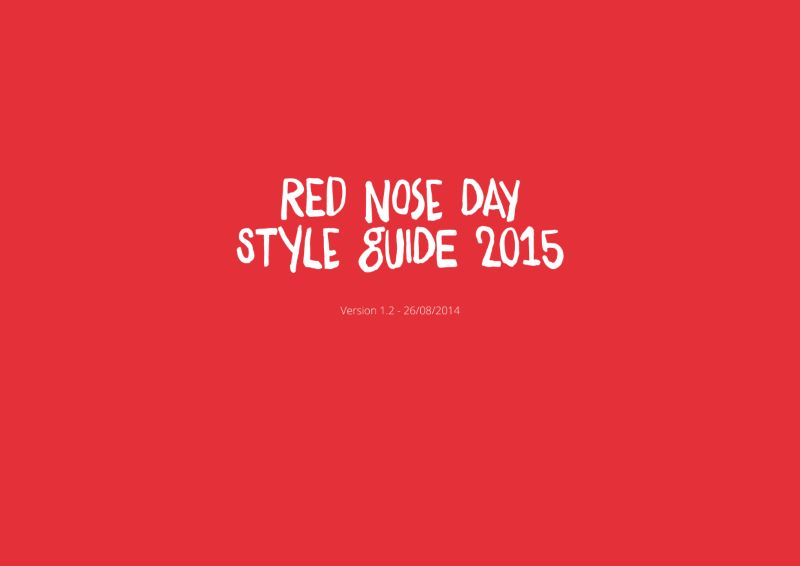 Red Nose Day 2015 Style Guide