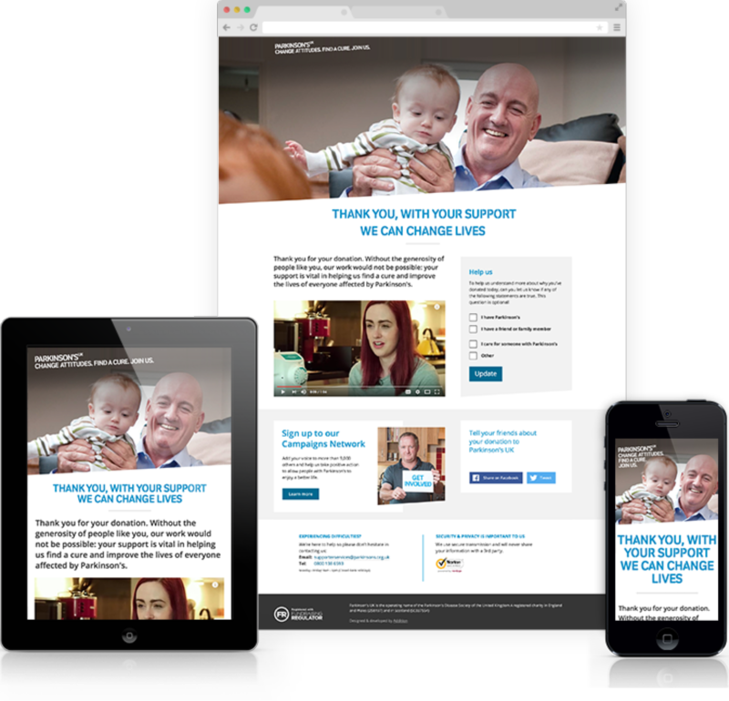 Improving Parkinson's UK's online donation journey
