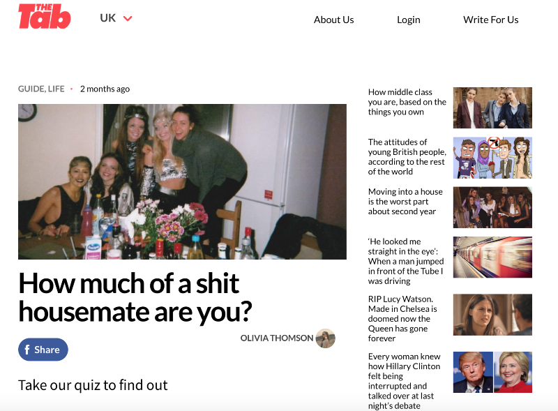 The Tab: articles