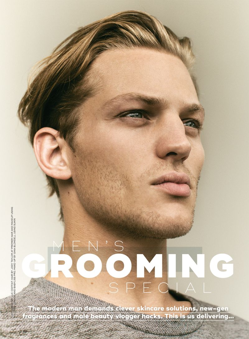Men's grooming special Marie Claire UK December 2017 issue