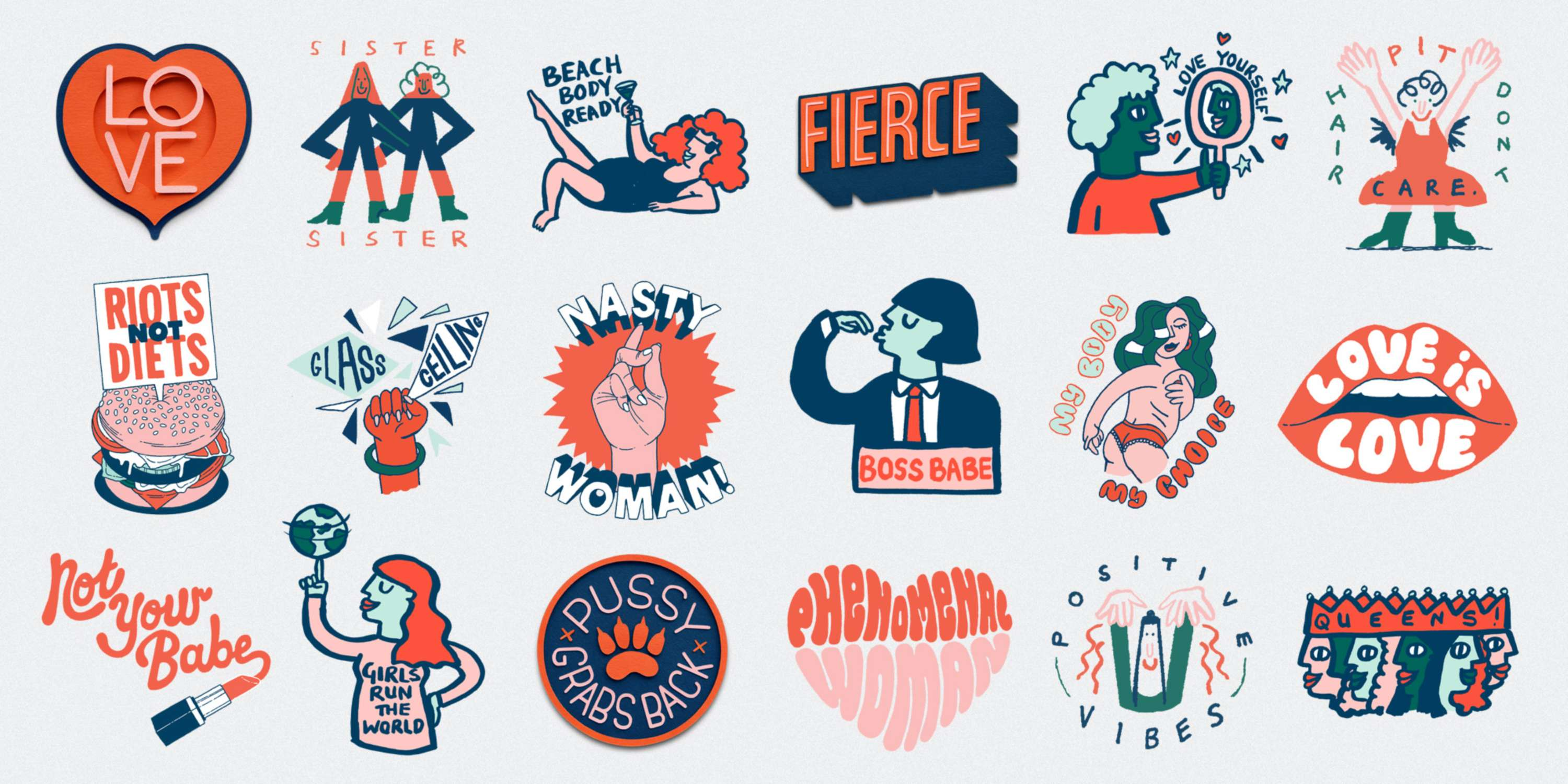 to the girls sticker pack the dots
