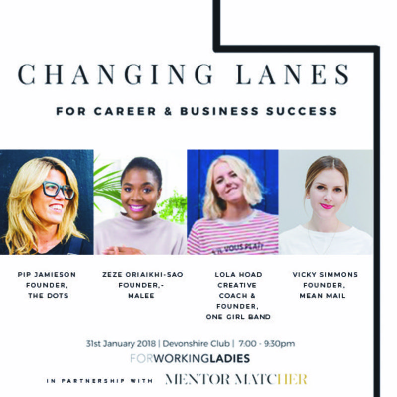 Changing Lanes for career and business success - buy tickets here